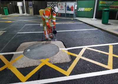 Hapas over-banding and thermoplastic road marking (3)
